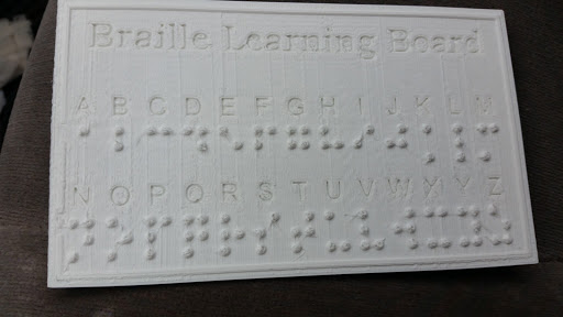 Braille Printing Sample