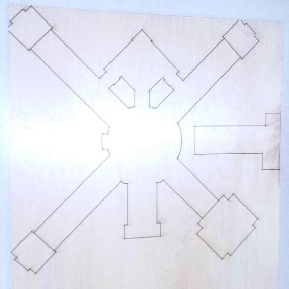 2-D Laser-cut Model of our School