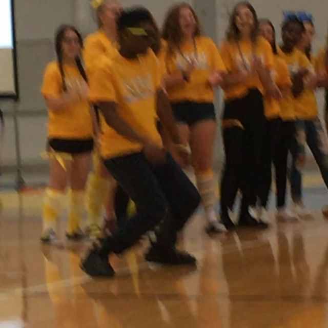 """George Morrison and Maine West Drumline Hype up """"I Am A Warrior Day"""""""