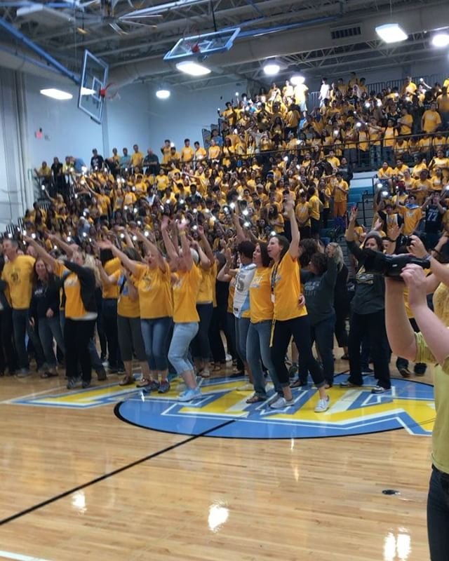 """Staff Unites to Sing """"Sweet Caroline"""" at First Assembly"""